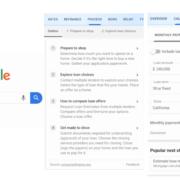 Google mutui, le opzioni aggiuntive disponibili in serp
