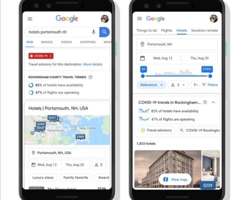 Google Travel update: i travel trend.