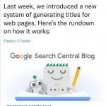 Guida ufficiale Google al rewriting dei title in serp