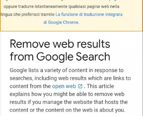 Come rimuovere dall'indice di Google le pagine web di un sito ed in quali casi?